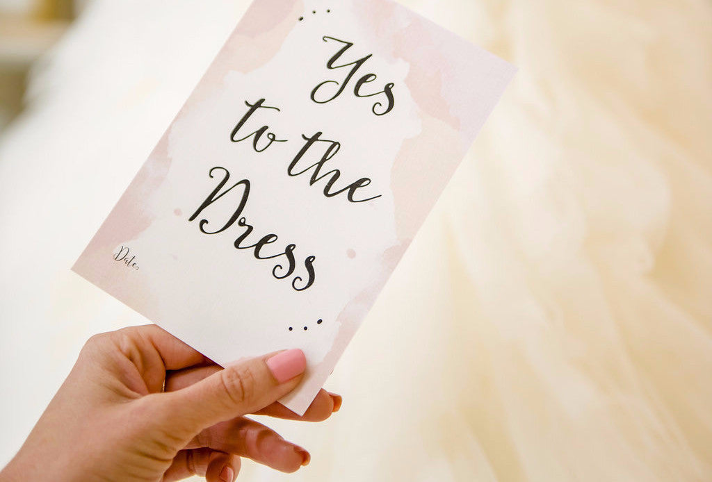 Yes to the Dress Berries and Blush Wedding Milestone Card
