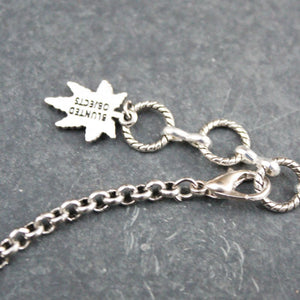 Tattoo Weed Leaf Choker (Silver) - Blunted Objects