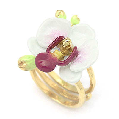 Phalaen White Ring | BLOOM