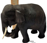Lucky Elephant Carved Wood Centerpiece Asian Home Accent.