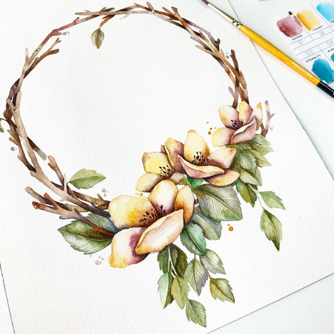[Johor] 17 Aug - Floral & Twigs Wreath