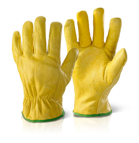 Click 2000 Yellow Quality Lined Drivers Gloves