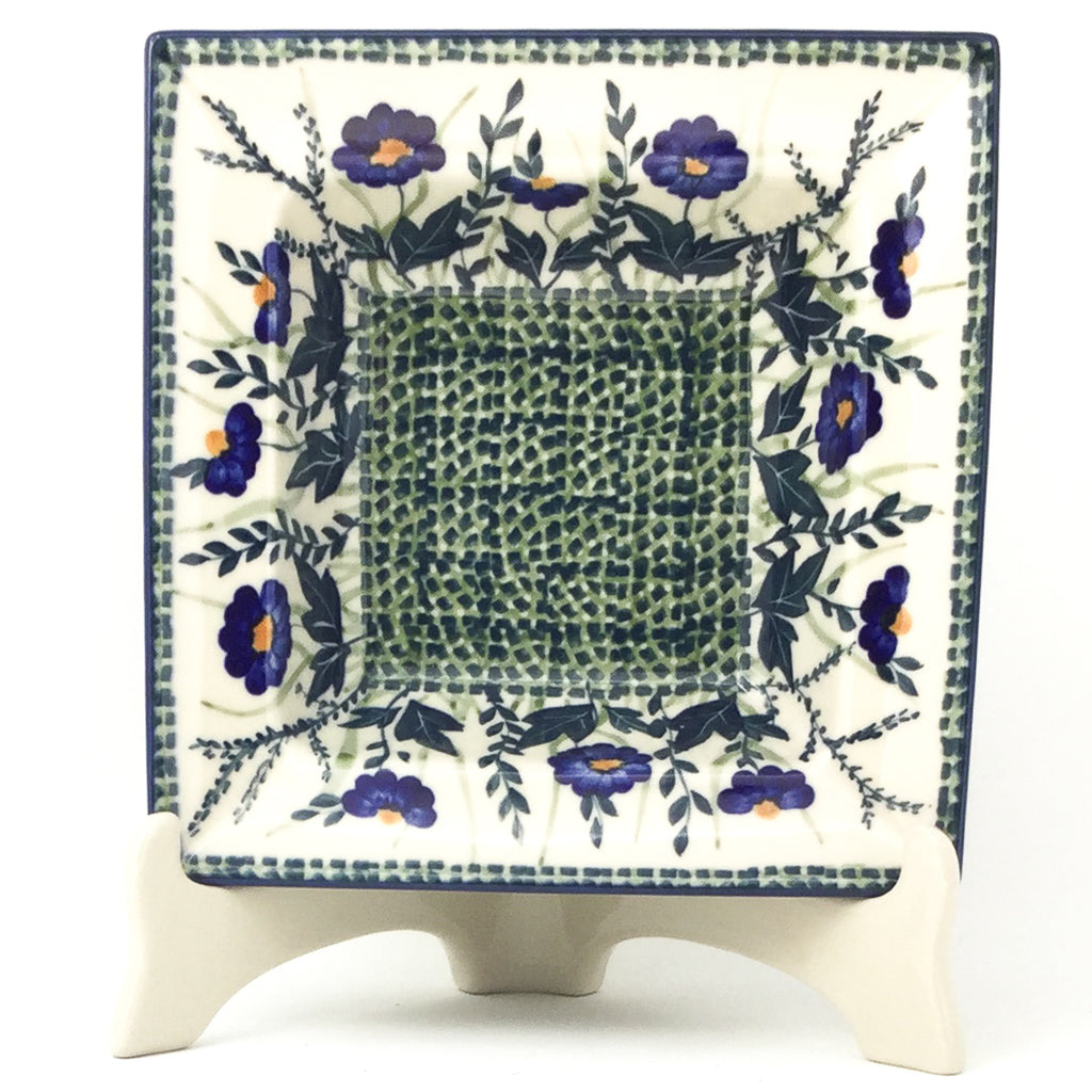 Square Soup Plate in Wild Blue