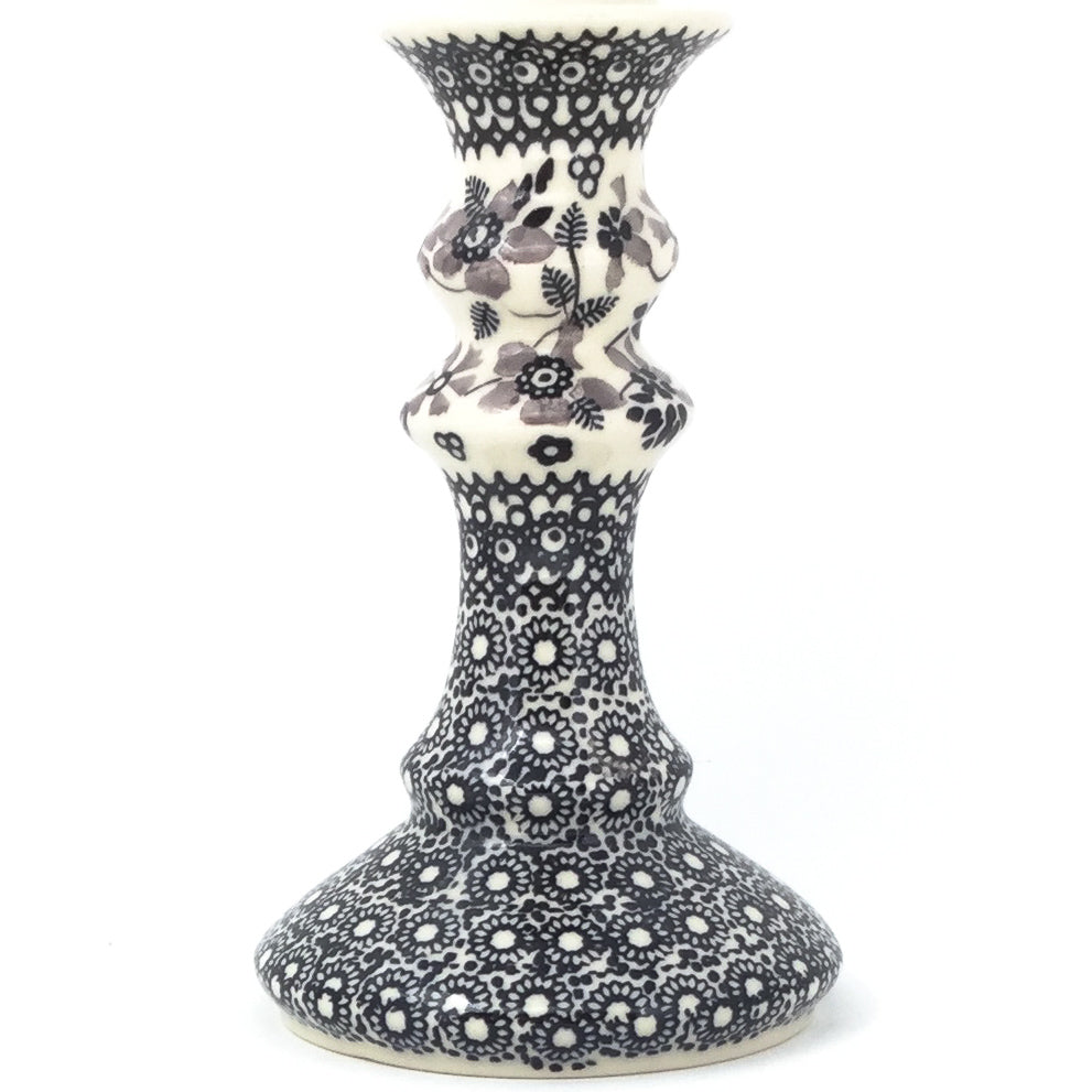 Tall Candle Holder in Gray & Black