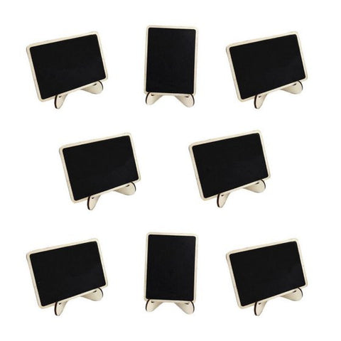 10Pcs Mini Chalk Blackboard Wall Wood Memo Board Message Board Kitchen Note Reminder Rectangle Chalkboard with Stand