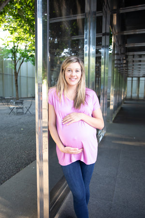 Maternity | Extended V-Neck Tunic | Blush