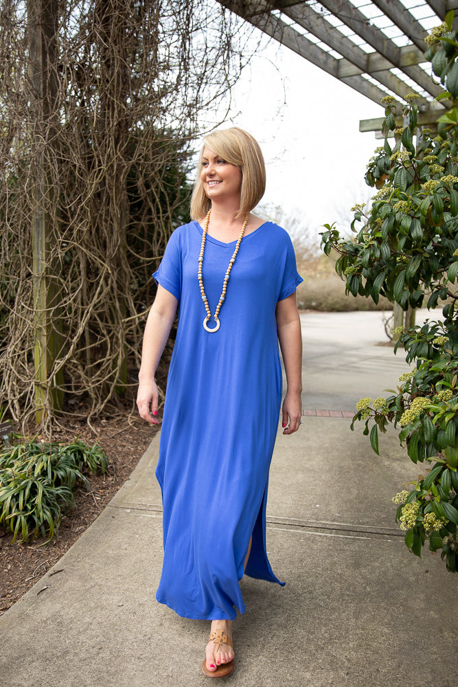 Maxi Dress Cobalt