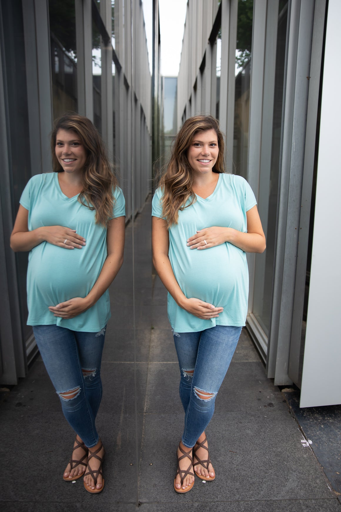 Maternity | Extended V-Neck Tunic | Mint