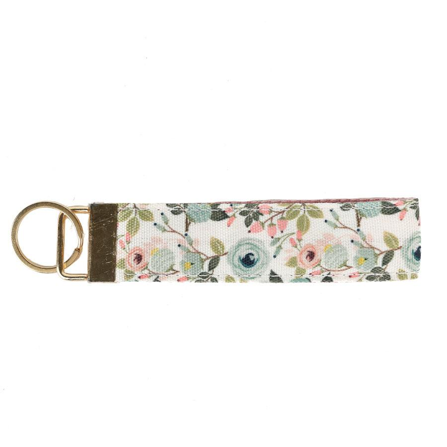 Keyfob | She Believed She Could So She Did | Peach Floral