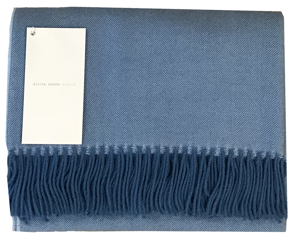 Sky Blue Alpaca Throw