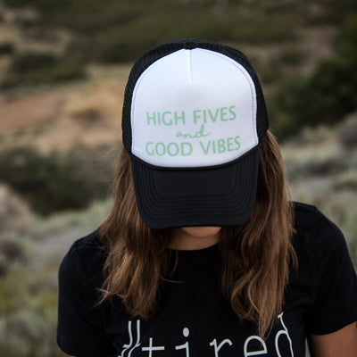 TRUCKER HAT | High Fives and Good Vibes