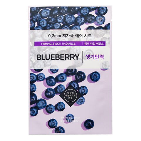 0.2 Air Therapy - Blueberry - Firming & Skin Radiance, Etude House - Mooni Mask