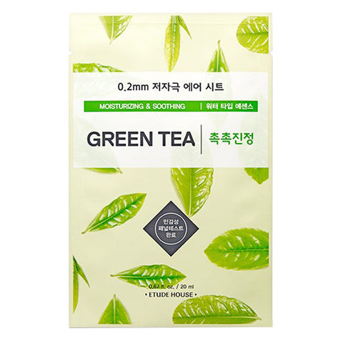 0.2 Air Therapy - Green Tea - Moisturizing & Soothing, Etude House - Mooni Mask