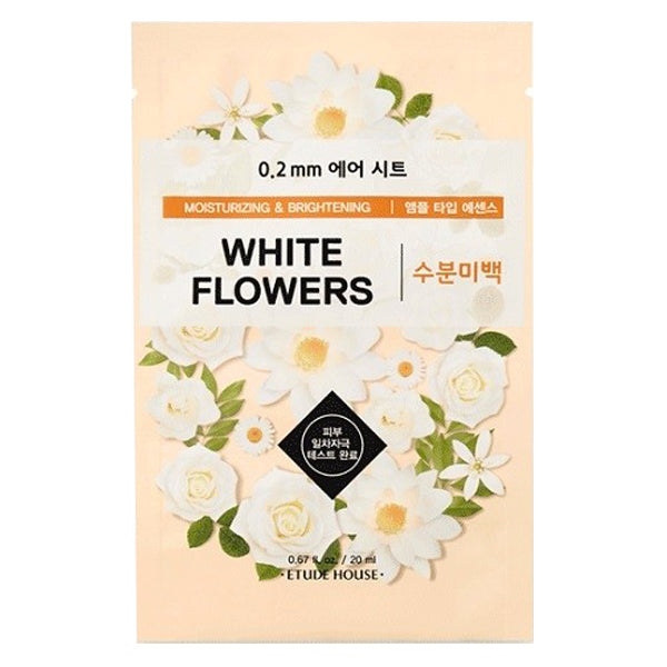 0.2 Air Therapy - White Flowers - Moisturizing & Brightening, Etude House - Mooni Mask