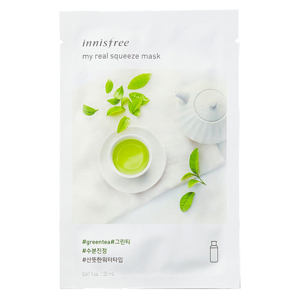 My Real Squeeze - Green Tea, Innisfree - Mooni Mask
