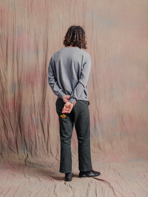 Carlo Pocket Sweatshirt / Overcast Sky Grey