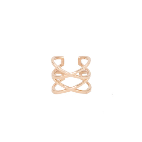 Criss Cross Gold Ear Cuff