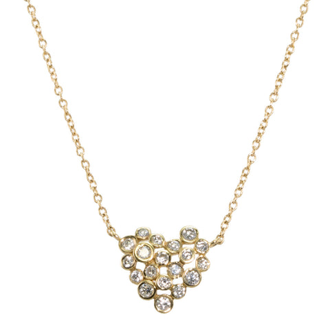 Bubble Heart Diamond Necklace