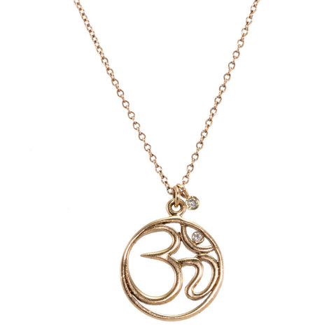 Cut Out Ohm Necklace