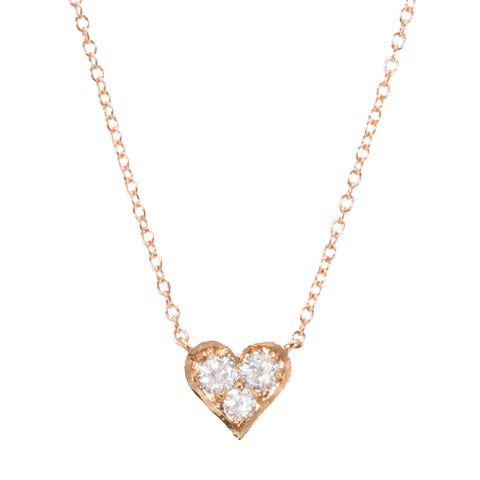 3 Diamond Heart Necklace