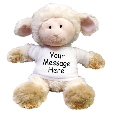 "Personalized Stuffed Lamb - 12"" Aurora Tubby Wubby Sheep"
