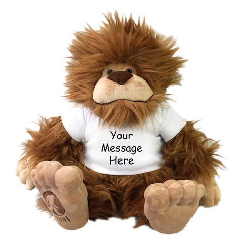 Personalized Stuffed Bigfoot - 16 inches, Aurora Plush