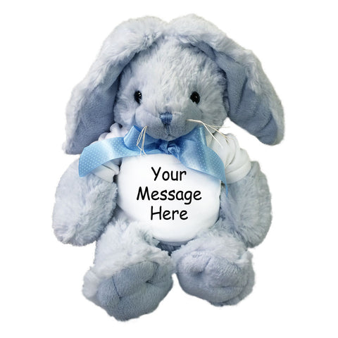 Personalized Plush Blue Bunny Rabbit Stuffed Animal