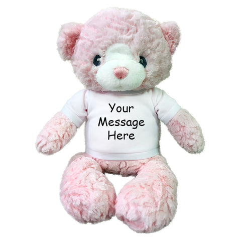 Personalized Teddy Bear - 15 inch Pink Huggy Bear