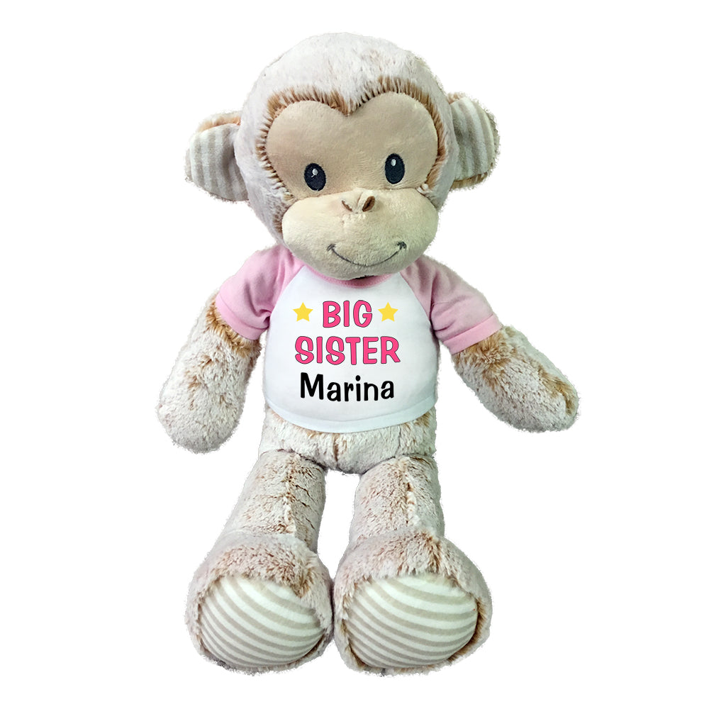"Big Sister Monkey- Personalized 20"" Plush Marlow Monkey"