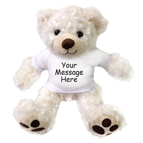 Personalized Teddy Bear - Plush White Vera Bear 12 inches