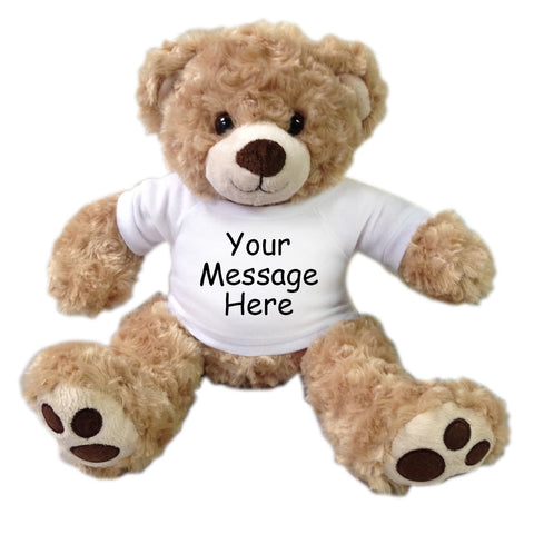 Personalized Teddy Bear - 13 inch Vera Bear, Honey