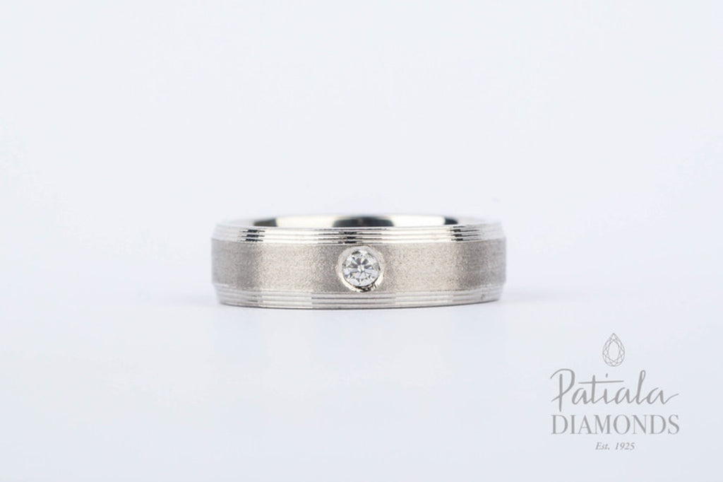 Men's Wedding Band-AAP2 - patiala-diamonds