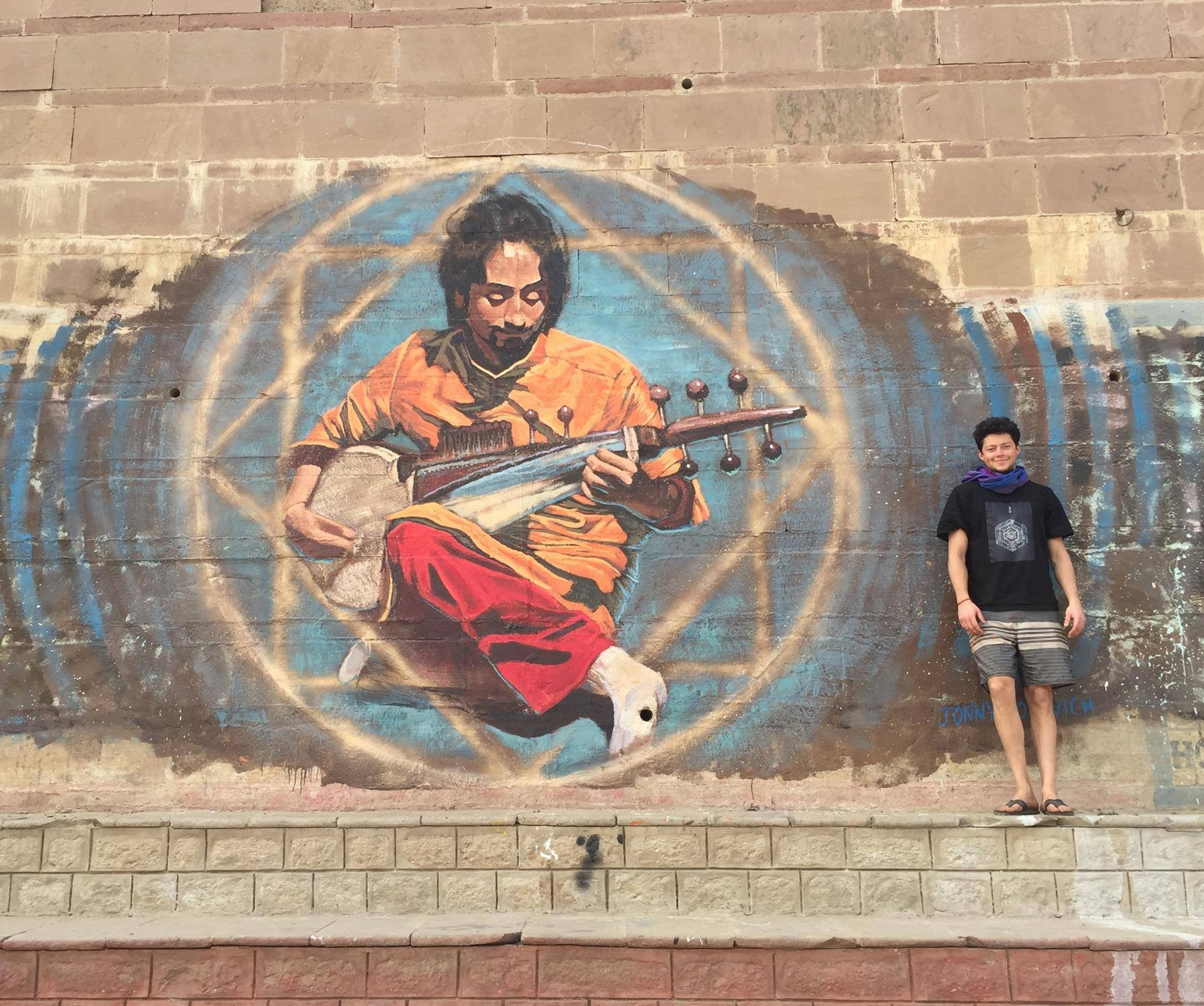 The Transcendence of Music, Mural in Varanasi, India
