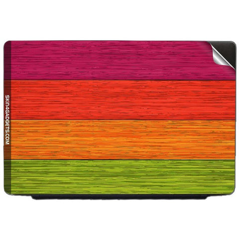 Multicolor Wooden Planks For ACER TRAVELMATE 4100 Skin