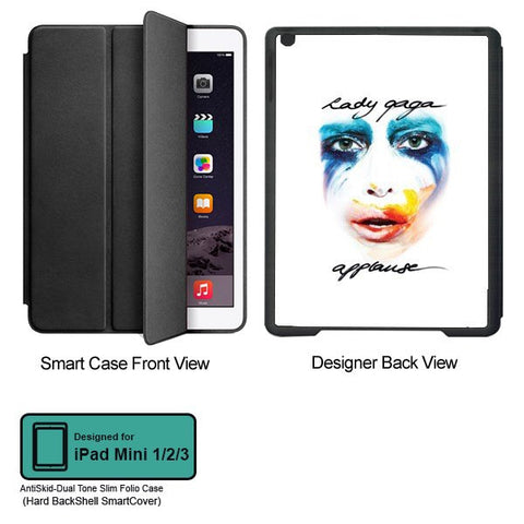 Universal Music Officially Licensed Lady Gaga -Style 1 Tablet Designer BLACK SMART CASE for APPLE IPAD MINI 1,IPAD MINI 2, IPAD MINI 3,