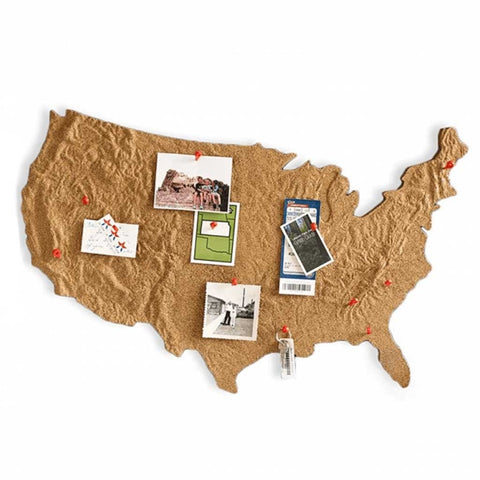 CrossCountry Topographical Corkboard