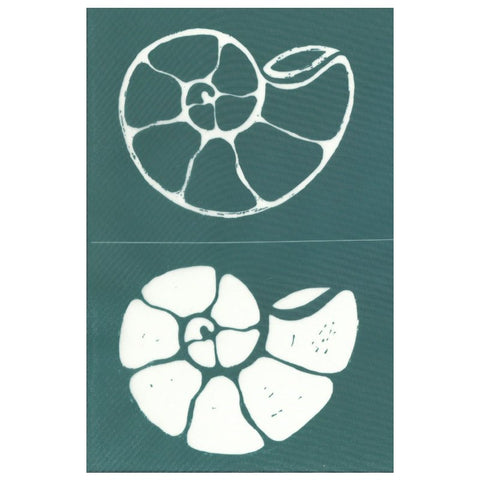 DIY Silk Screen Printing Ammonite Fossil Stencil Design