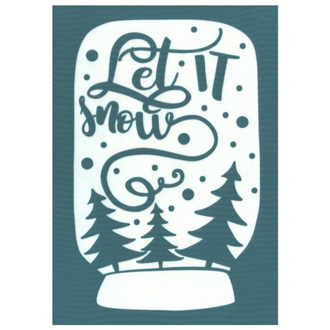 Let It Snow Christmas Design Silk Screen Print Stencil
