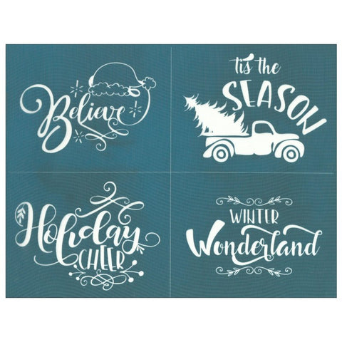 Christmas Quotes Silk Screen Printing Stencil