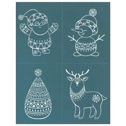 Silk Screening Christmas Collection Design Stencil