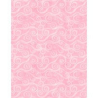 Essential Swirls Backing by Wilminton Prints Pink