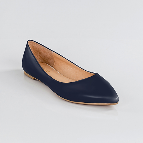 Navy Pointed Toe Flats