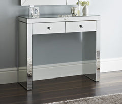 Alexia Mirrored Console Table