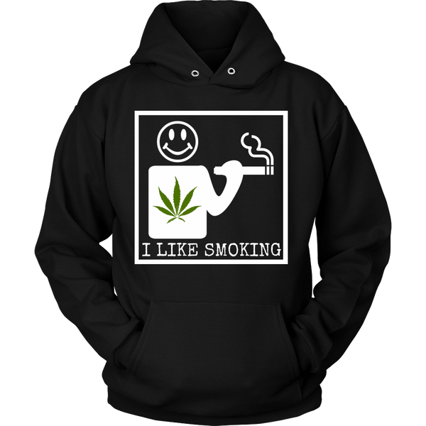 Unisex I Like Smoking Hoodie - White Square