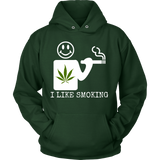 Unisex I Like Smoking Hoodie - White Logo
