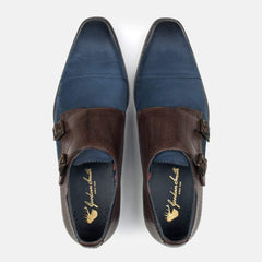 Goodwin Smith Footwear UK 6 / EURO 39 / US 7 / Brown / Leather LITTON NAVY & BROWN