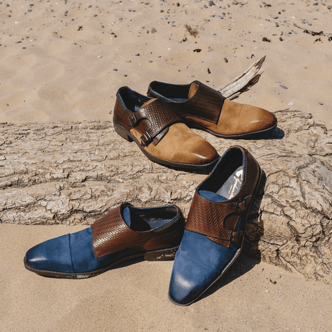 Goodwin Smith SS19 SS19 UK 6 / EURO 39 / US 7 / Navy / Leather LITTON NAVY & BROWN