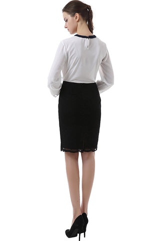 "PHISTIC Women's ""Chrissy"" Lace Pencil Skirt"