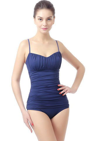 "PHISTIC ""Jessica"" Shirred Tankini Bathing Suit Top"