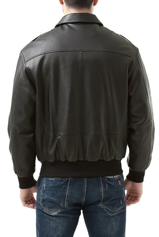 Landing Leathers Men's Premium Air Force A2 Goatskin Leather Flight Bomber Jacket (A-2) - Big